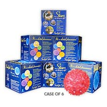 "Bulk 6 Pack- 10"" Mega Hanging Starlight Sphere - 150 Lights - Pink 724808C"