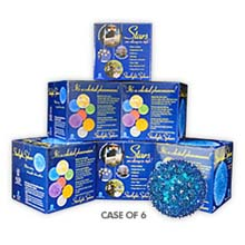 "Bulk 6 Pack - 6"" Mini Hanging Starlight Sphere - 50 Lights - Blue"