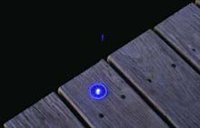 Blue Dock Dots Solar Light - 4 Pack - 1-3/8""