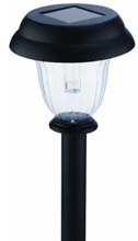 Black Solar Stake Walklight - 6 Pack