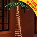 7' Deluxe Pre-Lit Rope Light Palm Tree - 169480