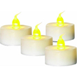 4 Pack White Battery Operated Tea Light Candle 903949