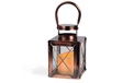 "Copper Lantern w/ Flameless LED Timer Candle - 7.5"" x 4.8"" - GC42023"
