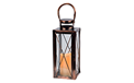 "Copper Lantern w/ Flameless LED Timer Candle - 12"" x 4.75"" - GC42024"