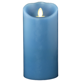 Blue Battery Operated Flameless Candle w/ Vanilla Scent