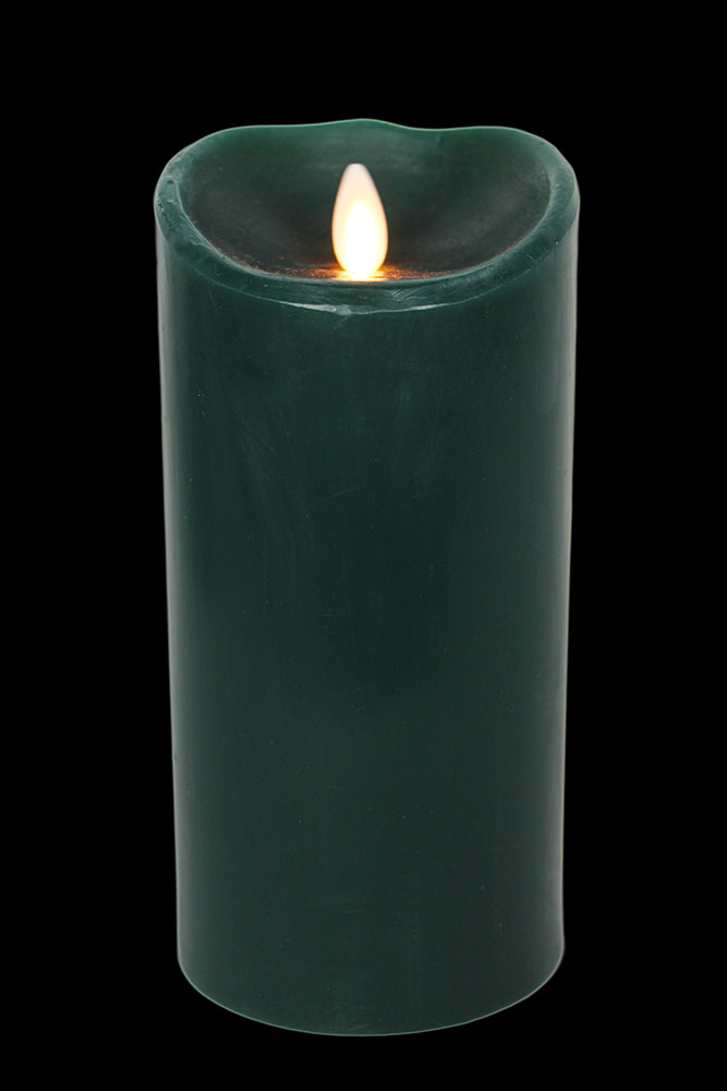 Forest Green Flameless Candles - 9