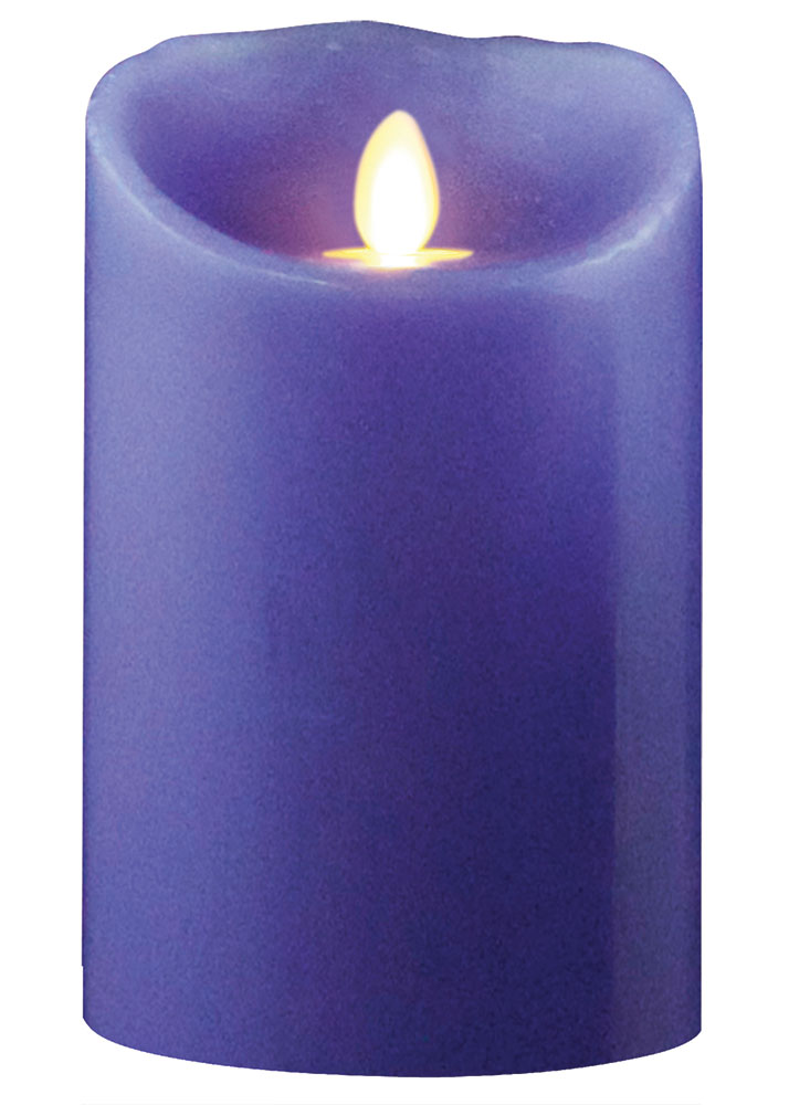 Lavender Battery Operated Flameless Candle