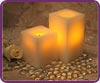 Square Pillars Battery Operated Flameless Candles