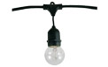 Commercial Suspended Light Strand Kit - 15 Light Bulbs - 48 ft. - 3648-BLK-G16