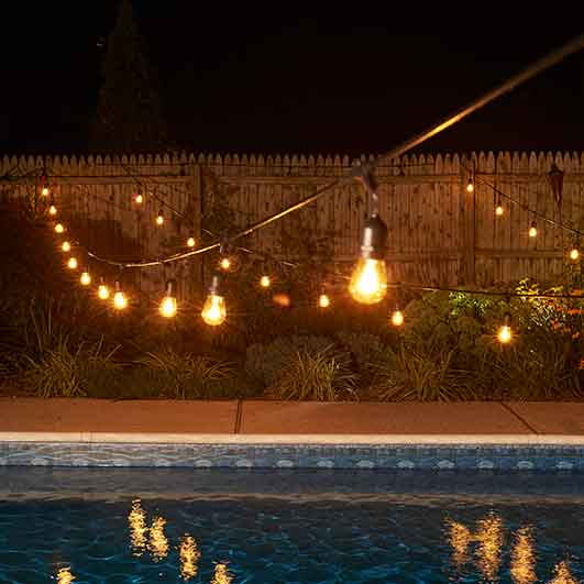 48 commercial linear light strand kit black suspended outdoor commercial string lights workwithnaturefo