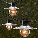 Cafe String Lights w/ Galvanized Shades - TAB-3507G