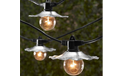 Cafe String Lights with Galvanized Shades - TAB-3507G