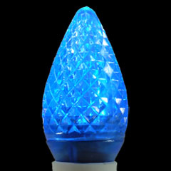commercial led c9 linear light strand bulbs 25 pack blue faceted commer. Black Bedroom Furniture Sets. Home Design Ideas