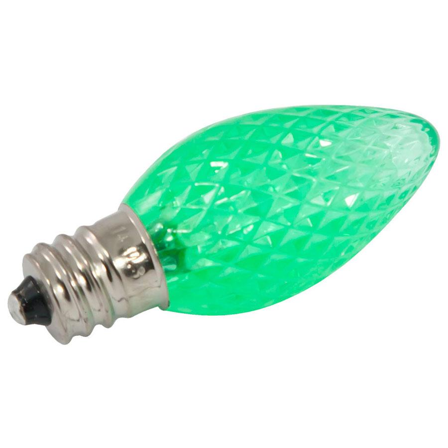 Green Faceted Led C7 Linear Light Strand Bulbs