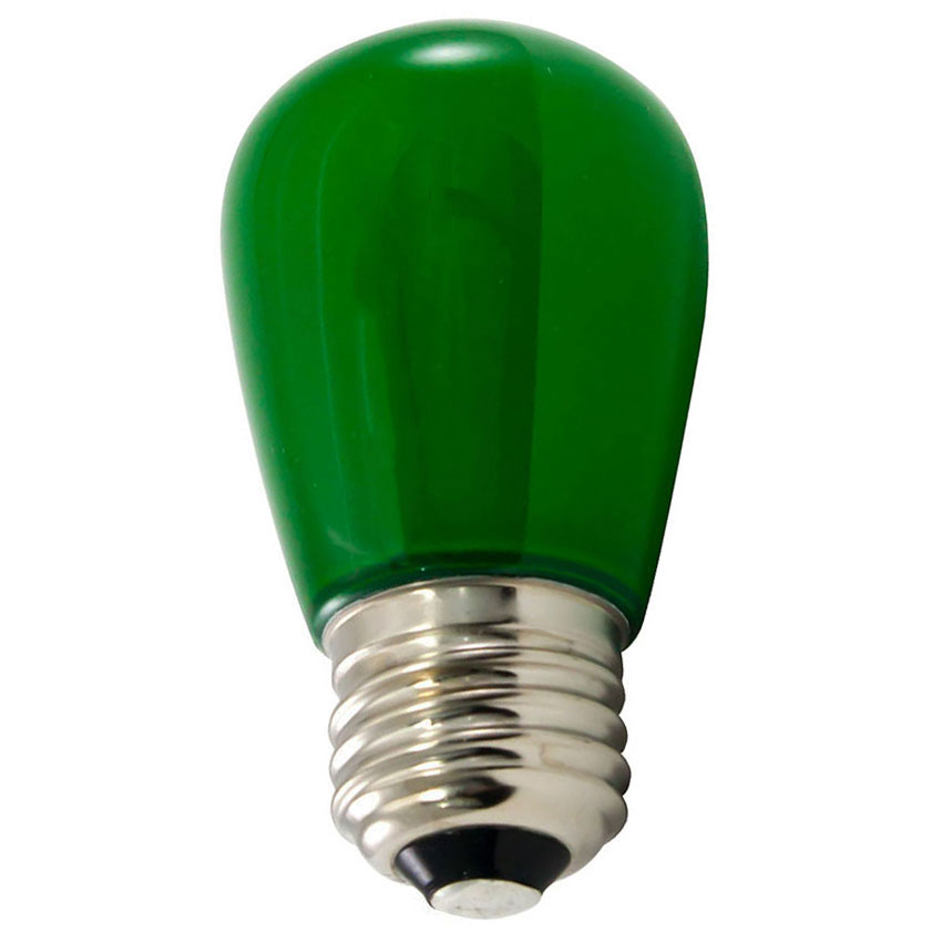 Frosted Green LED S14 Professional Series Light Bulbs - 25 ...