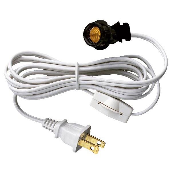 White Switch/Cord Lamp Set