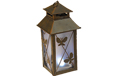 Solar Rustic Metal Square Lantern - Butterfly - GC1743080B