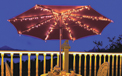 Patio Table Umbrella Lights & Outdoor Table Umbrella Lighting - Decorative Lighting & Decor