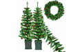 S/4 Pre-Lit Tree(2), Garland and Wreath Set - 902683