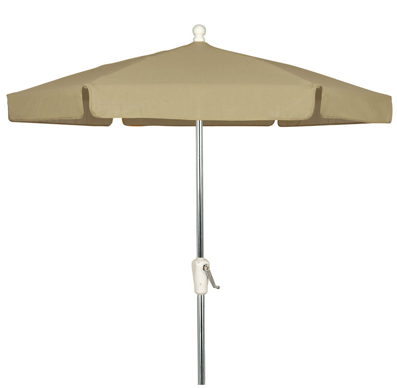 Beige 7 5 39 Hexagon Garden Umbrella Bright Aluminum