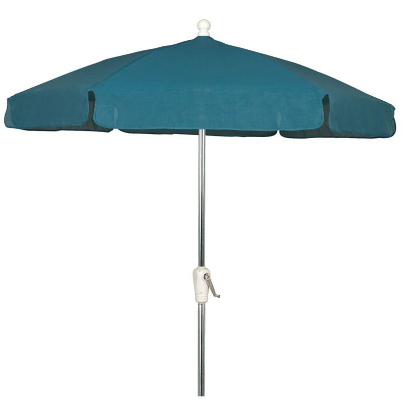 7 5 39 teal hexagon garden umbrella bright aluminum for Decor umbrellas