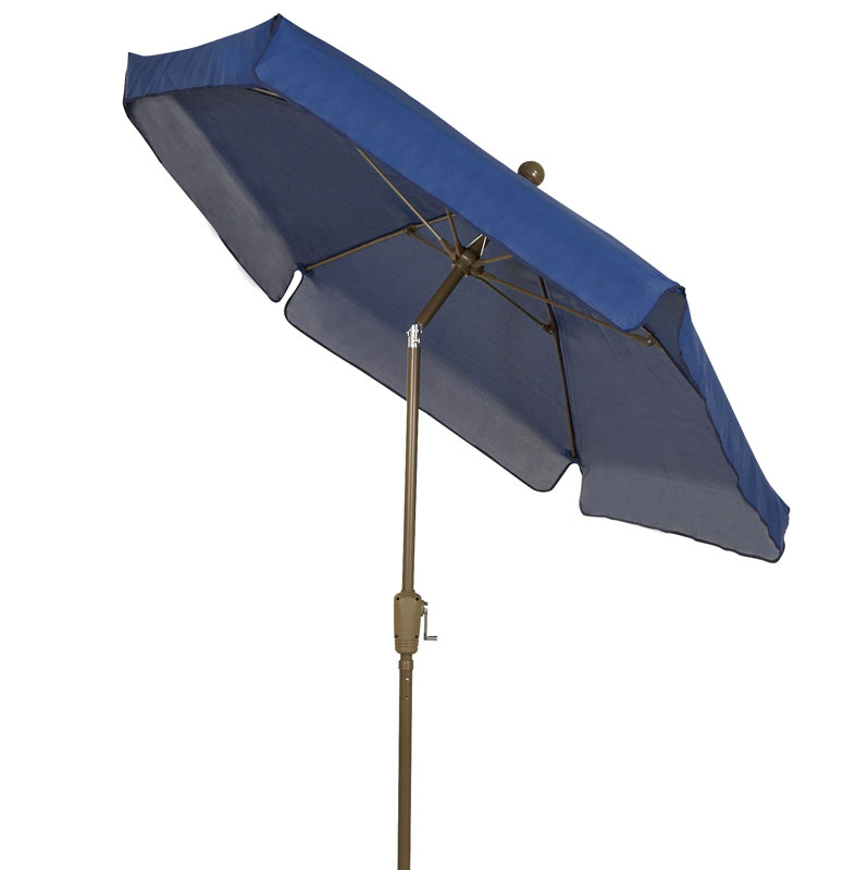 Pacific Blue Canopy Tilt Garden Umbrella