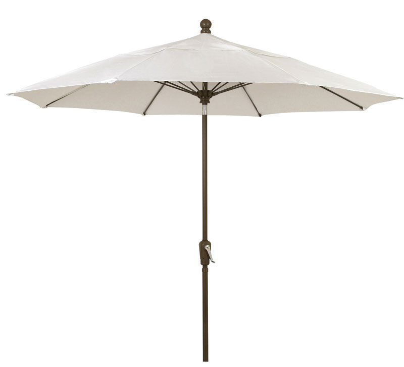 9' Natural Patio Umbrella - Bronze Finish - Crank Lift FB-9HCRCB-NATURAL