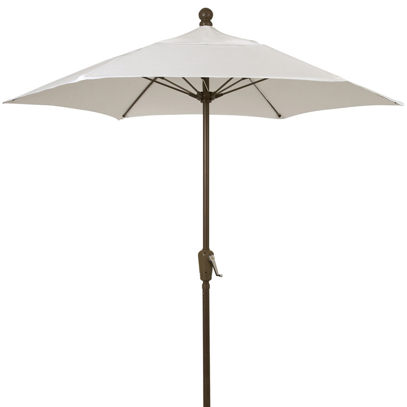 7 5 39 natural capony hexagon terrace umbrella bronze finish for Terrace umbrellas