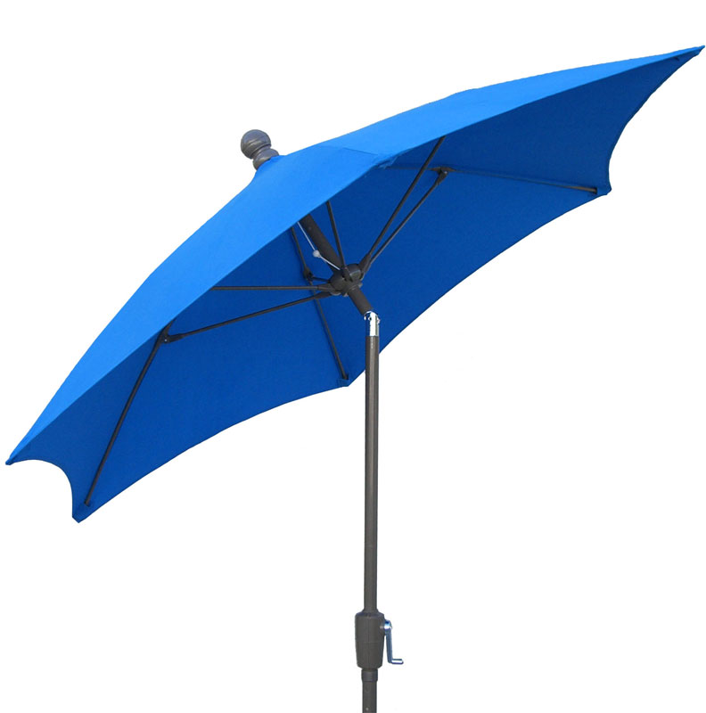 7.5' Pacific Blue Tilt Terrace Umbrella - Bronze Finish - Crank Lift FB-7TCRCB-T-PACIFIC