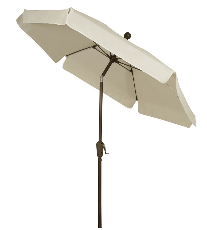 Natural Canopy Garden Tilt Umbrella - Bronze Finish