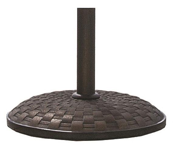 Decorative Concrete Base : Basket weave concrete umbrella base