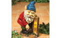 "Solar Gnome With Welcome Sign - 17.5"" H - GC1740330"