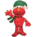 "3D Elmo with Santa Hat and Scarf Lawn Decoration Light - 32"" - 900024"