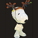 "Snoopy with Antlers Holiday Decoration Party Light - 32"" - 903736"