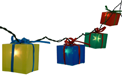 Present Party String Lights - 10 Present Lights BS-61100