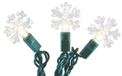 LED Snowflake Party String Light Strand - 25 Cool White Lights - 903884