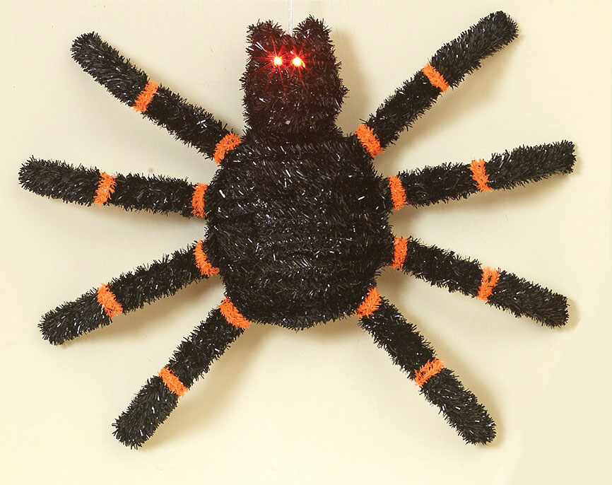 19in. 3D LED Spider w/ Light Up Eyes