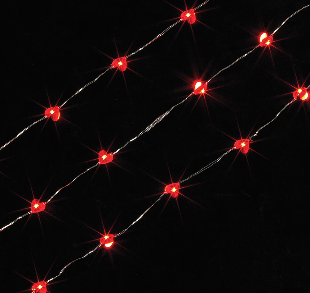 led acrylic heart battery operated party string lights 40 in red - Valentine String Lights