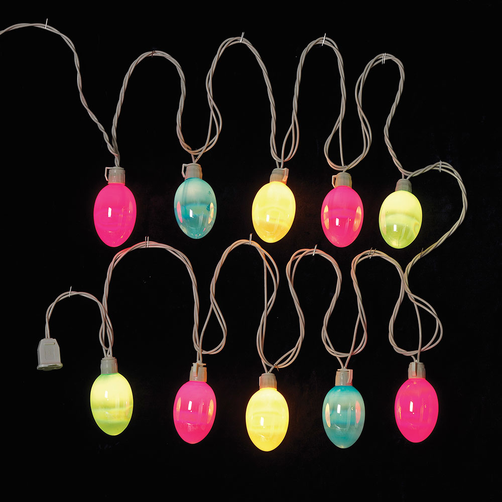 Easter Egg Party String Lights - Pearlized Pattern