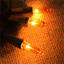 Fall Harvest Amber Light Set - Brown Cord