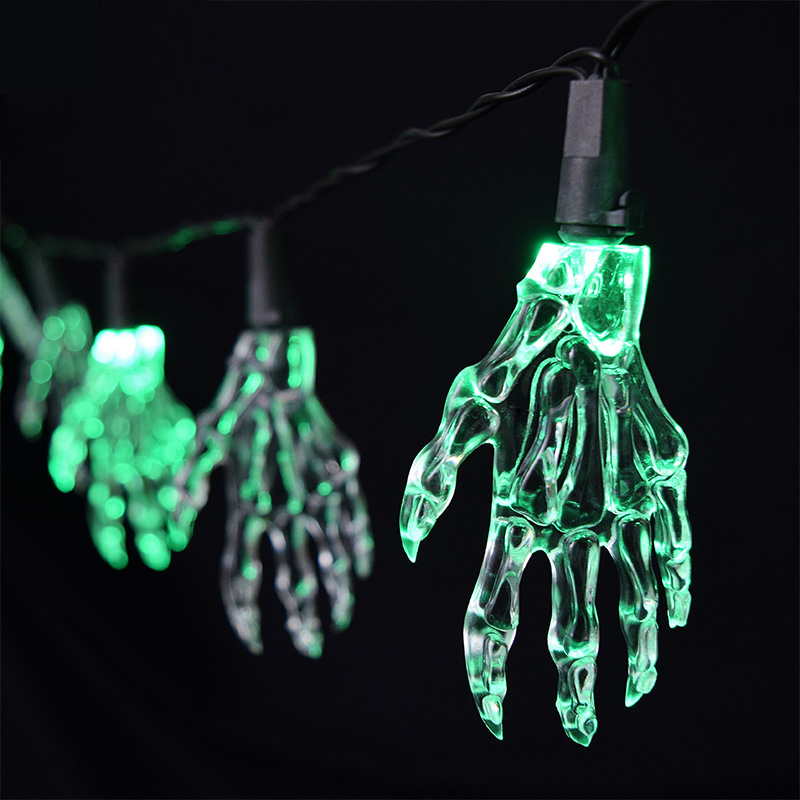 Halloween Party String Lights - Spooky Hand Lights - 5.5 feet
