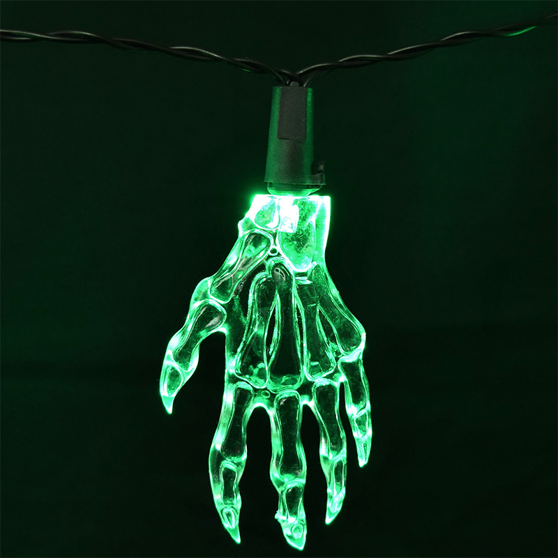Halloween Skeleton Hand Party String Lights