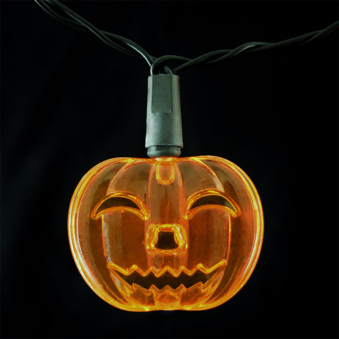 Pumpkin LED Party String Lights - Battery Operated - 10 Lights
