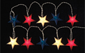 Red White & Blue Star Party String Lights - GC1127370