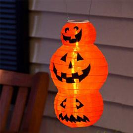 halloween pumpkin lantern solar powered led party light