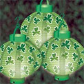 St. Patrick's Day Shamrock Lanterns - Set of 3 - AI-0860