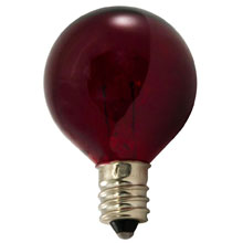10 Watt Red Candelabra Base Light Bulb