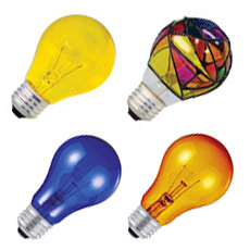 A19 Colored Light Bulbs