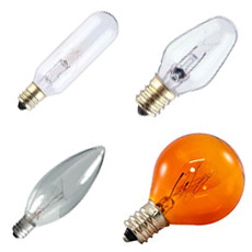 C7 Candelabra Base Light Bulbs
