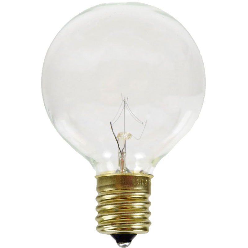 "G50 Globe Bulb - E17 Intermediate Base - 7 Watts - 2"" Diameter"